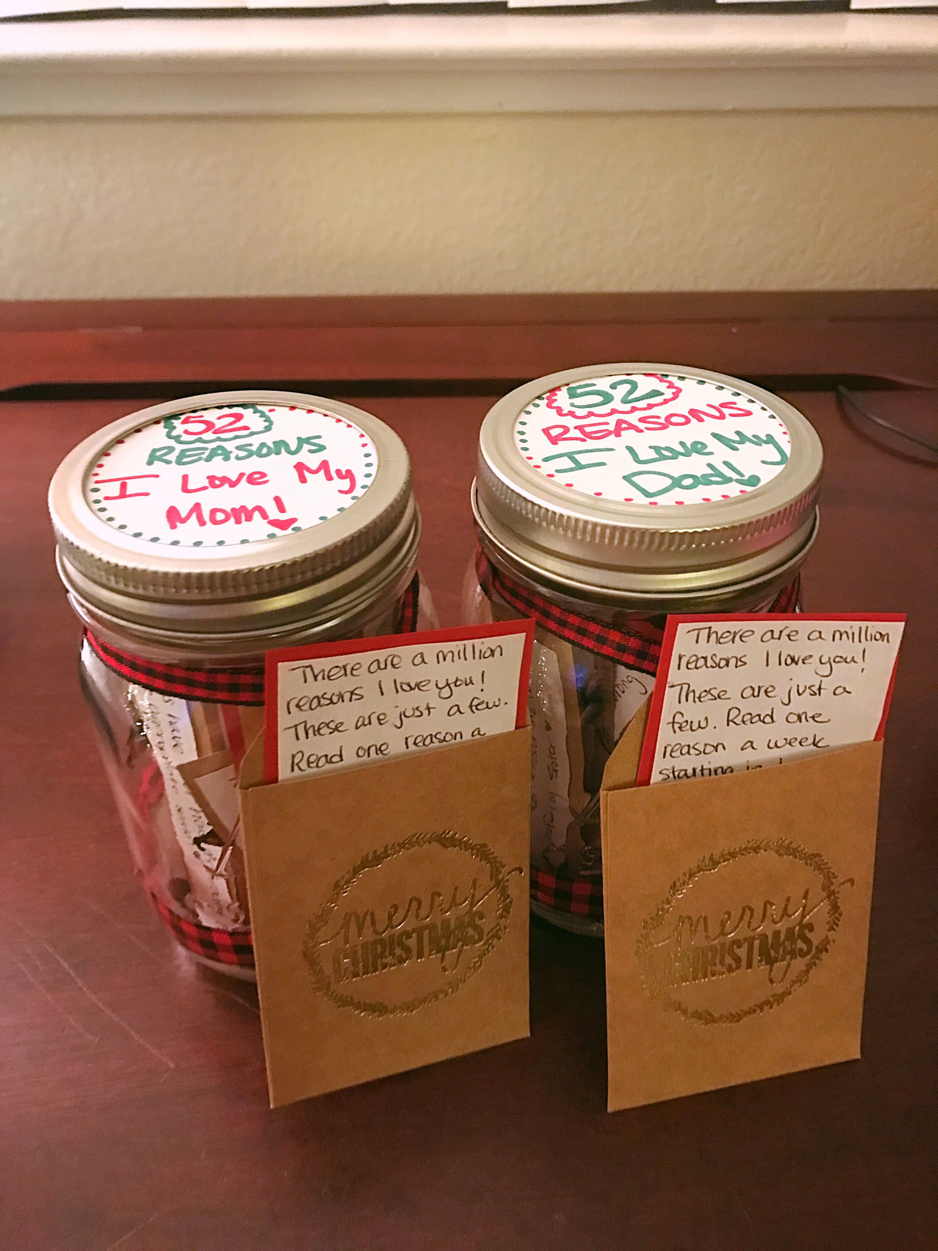 Diy Gift For Mom And Dad 52 Reasons I Love