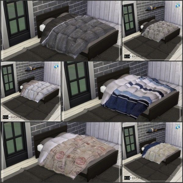 Simenapule Blanket Duvet 01 Sims 4 Downloads Sims 4