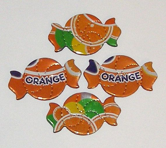 4 Orange Fanta Candy Magnets by SodaCanBuddies on Etsy