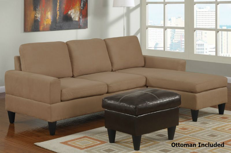 Arcuri Reversible Sectional Sofa With Ottoman Small Sectional