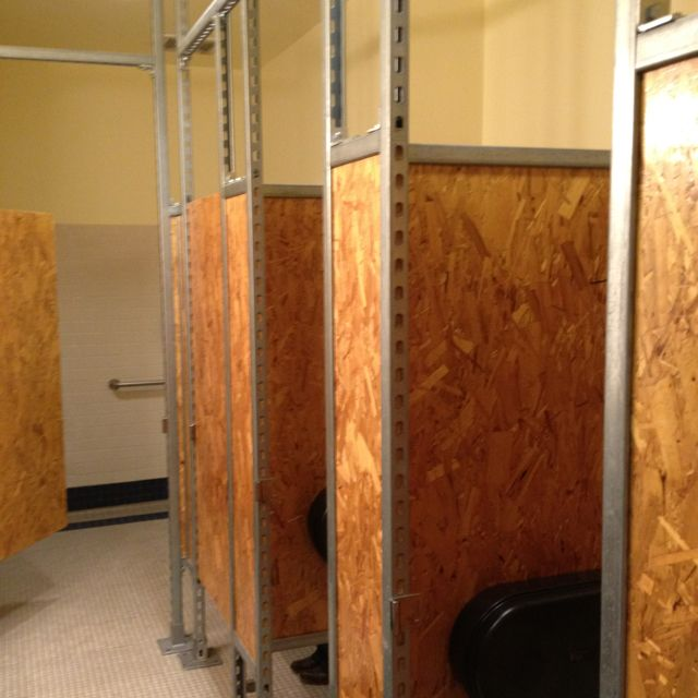 OSB Restroom Partitions Interiors Pinterest Toilet Osb - Industrial bathroom partitions