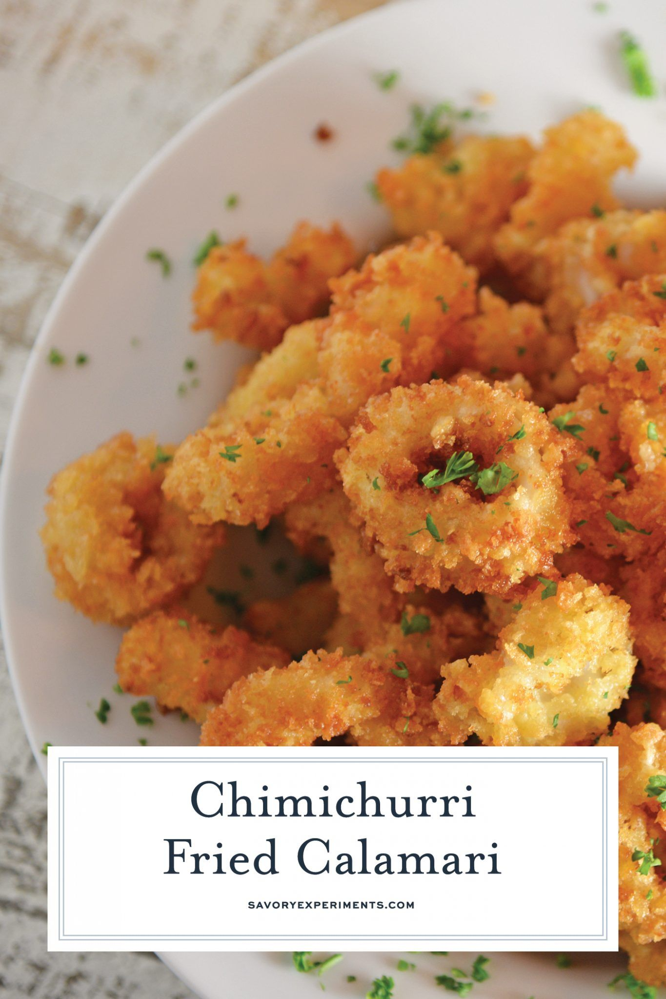 Chimichurri Fried Calamari is a quick and delicious