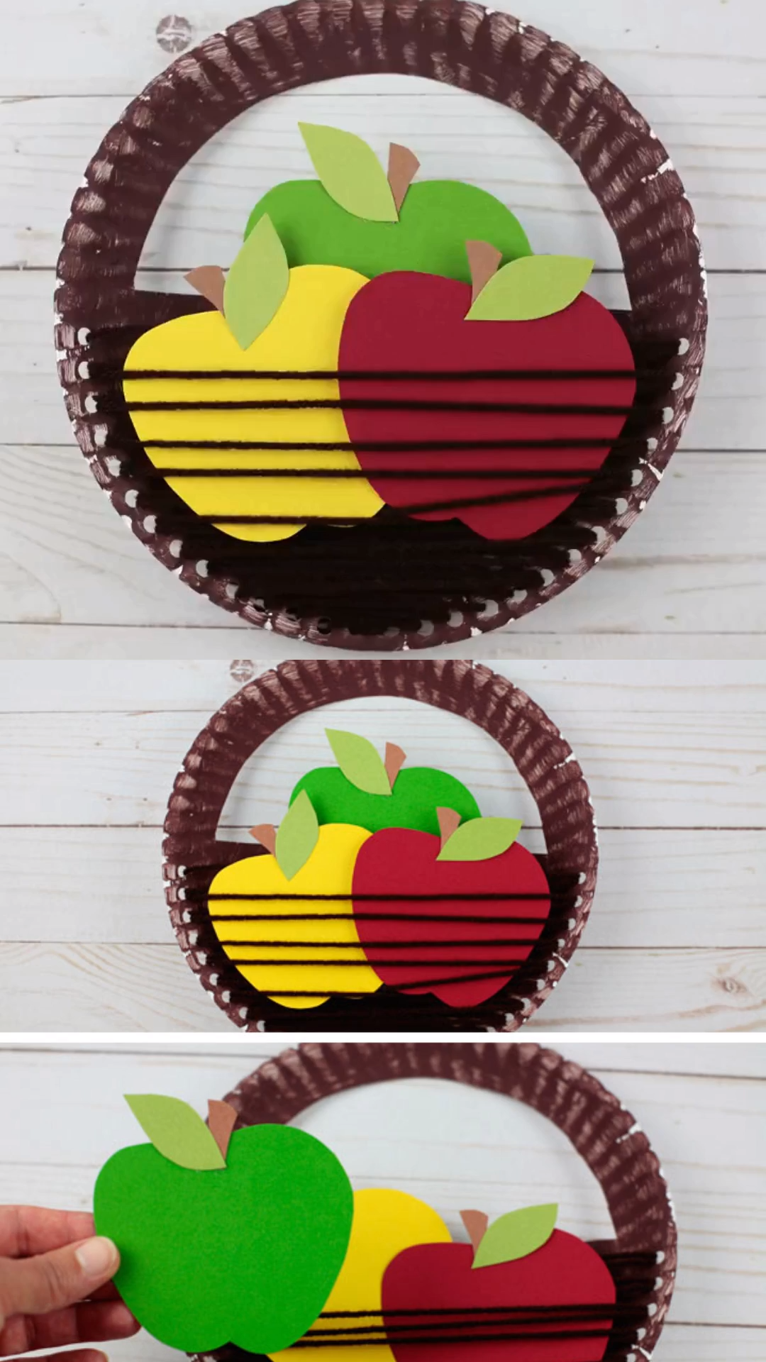 Apple Basket Fall Craft Kids #fallcraftsforkidspreschool