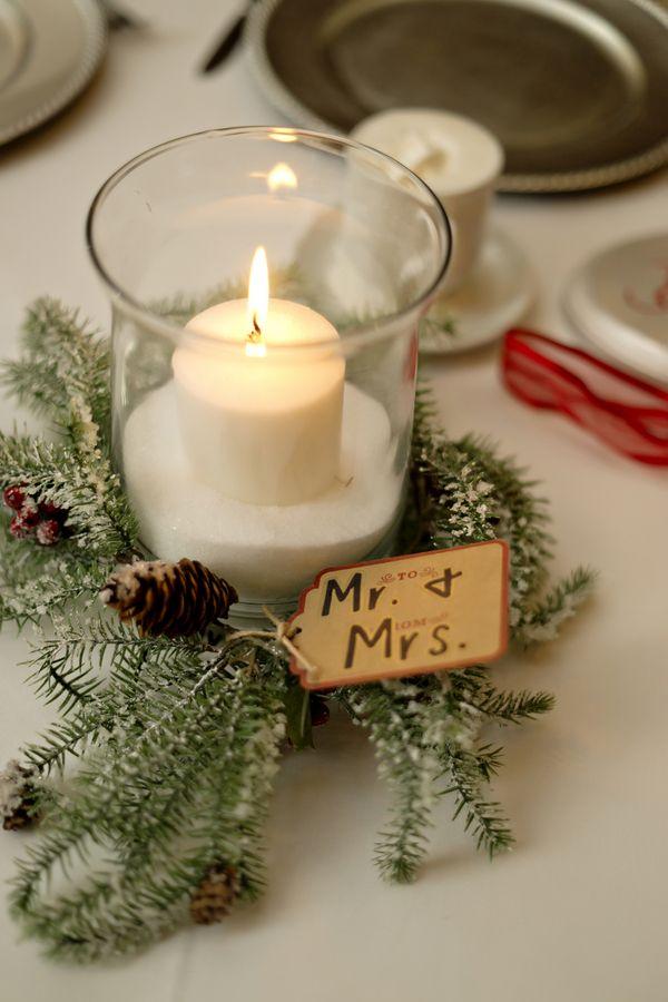Red Grey Green Christmas Themed Wedding Wedding Day Bliss