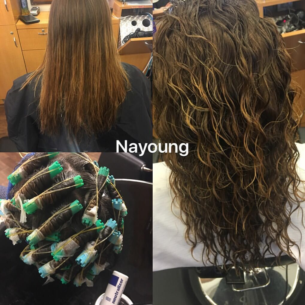 Nayoung Salon On Instagram Beachperm 2145298297 Setting Colorby Nayoungspiralhoney Beach WaveblondepermMicro