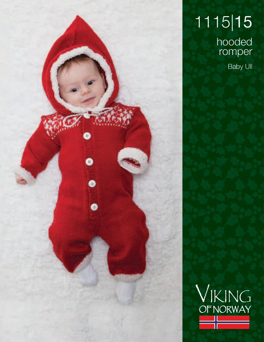 467744c32 Baby Ull Hooded Romper for Xmas