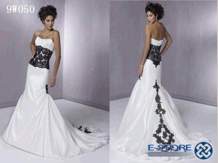 Black And White Wedding Dresses At David S Bridal Wedding Dress