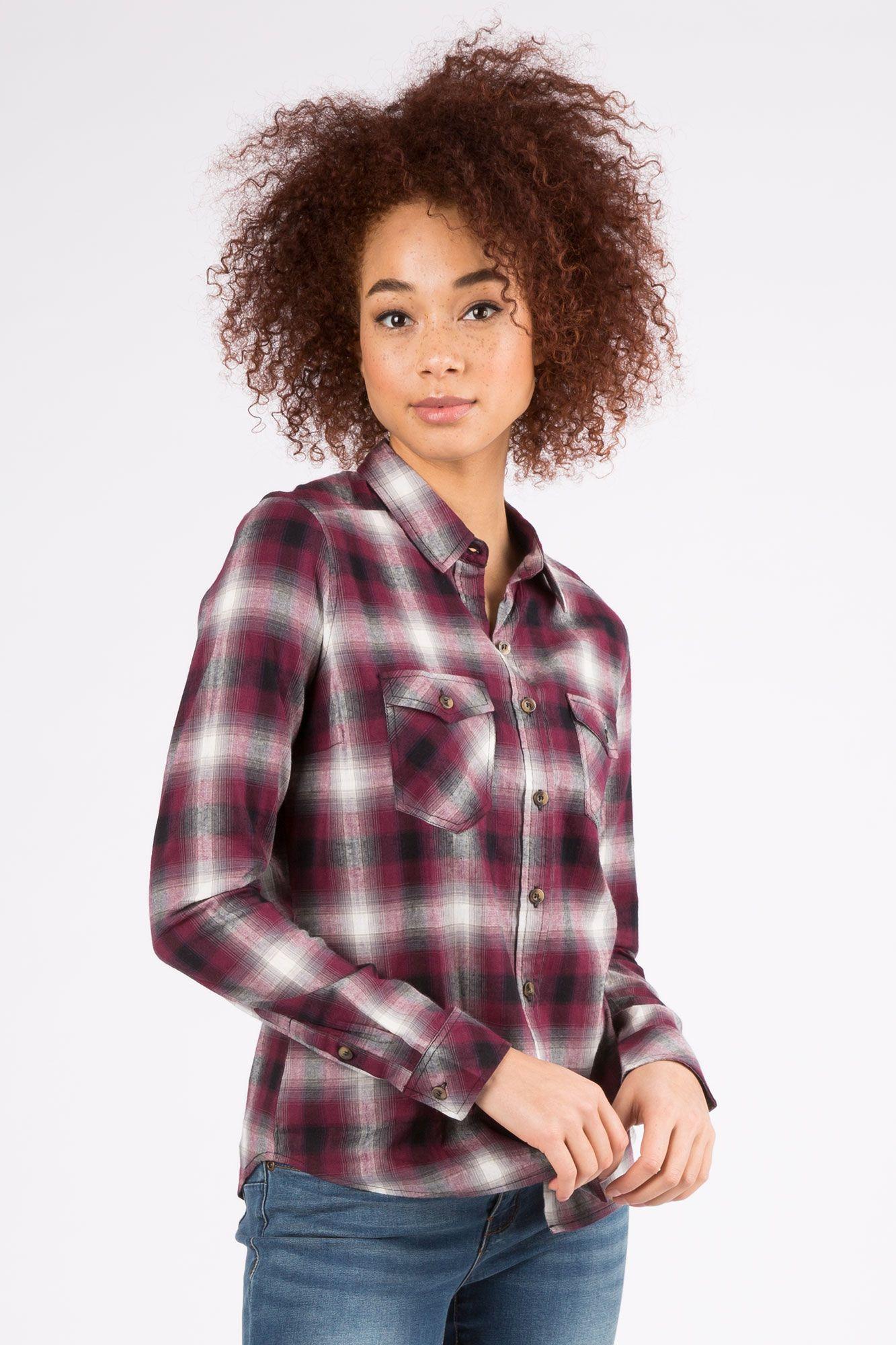 Girls classic fit plaid shirt plaid shirt plaid women