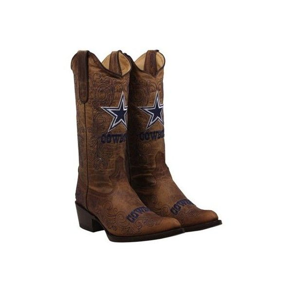 fdd0c148615 Shop Dallas Cowboys Womens Flyover Pull Up Cowboy Boots - Brown from ...