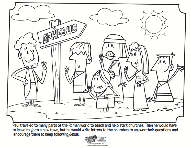 Paul And The Church Coloring Page Paul Bible Bible