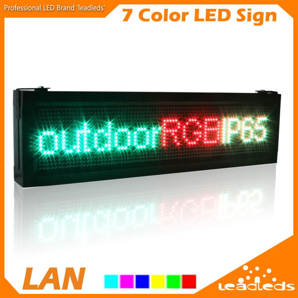 Led Leuchtbänder P10 Full Color Rgb Led Display Screen Outdoor Waterproof