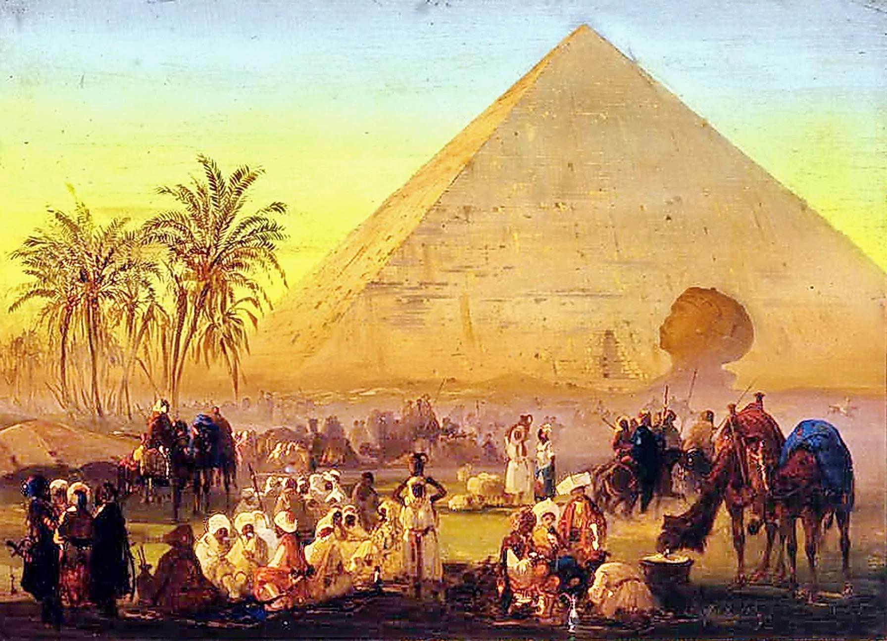 Egypt Wall Art Egypt Decor Giza Pyramids Egypt Art Interior Decor FRAMED Landscape Decor Egypt Pyramids