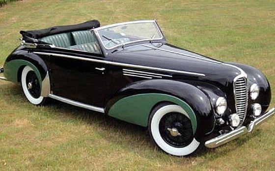 Une delahye 135 ms chapron ancienne ann e 1950 int rieur - Vieille voiture decapotable ...