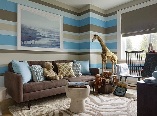 decorating with brown brings out the best - Interior Design Ideas Blue And Brown Living Room