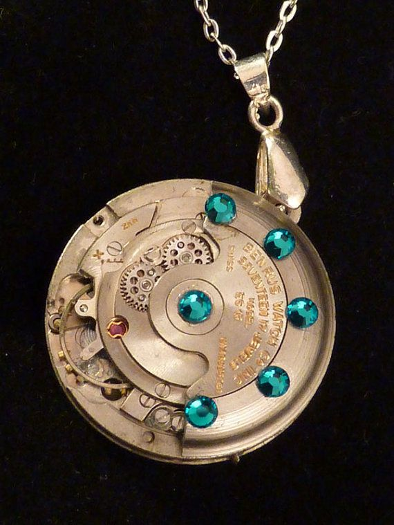 Time Keeps on Moving Steampunk Necklace by SteampunkFortune, $45.00