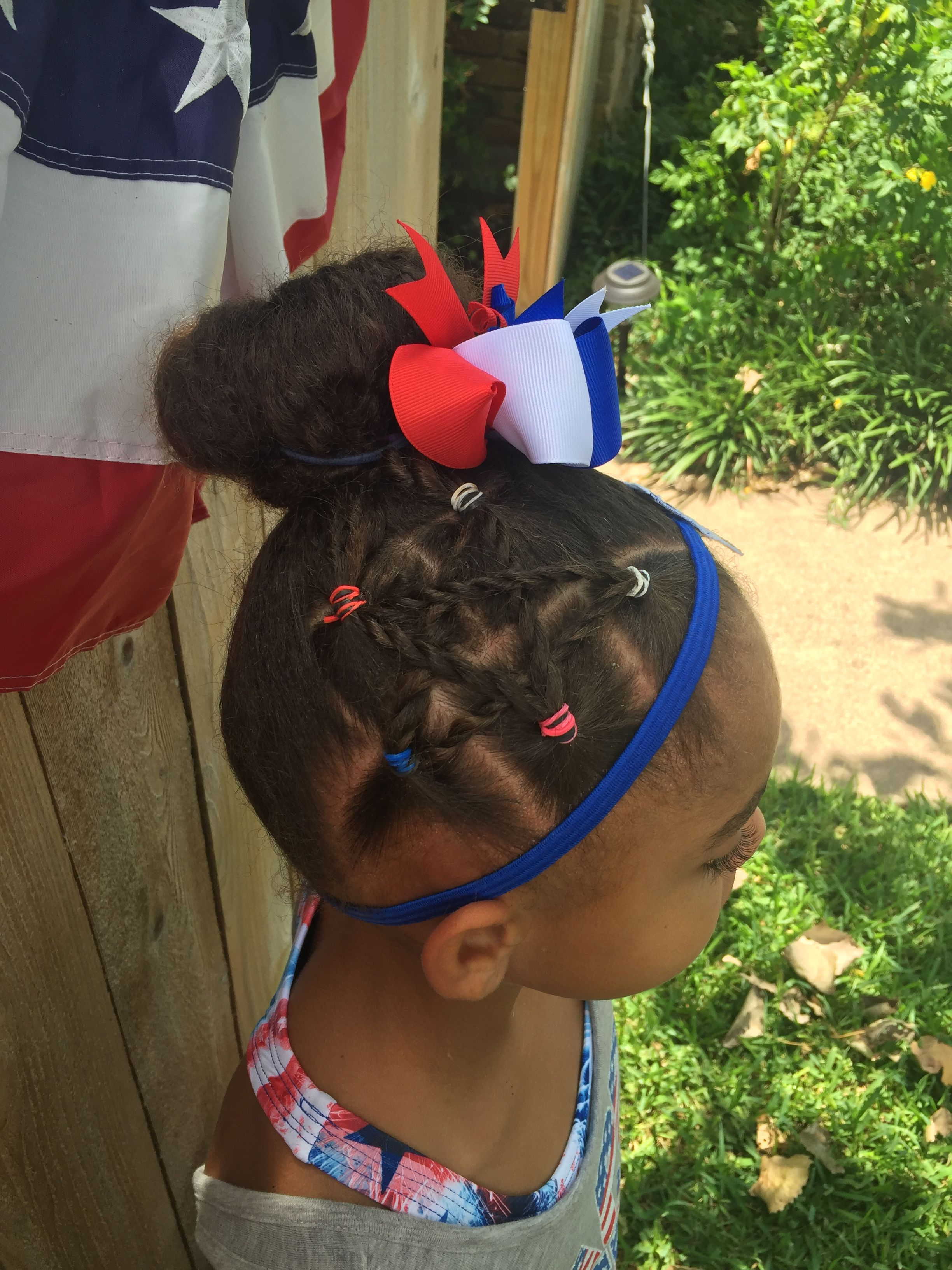 Kids Hairstyles Mixed Girl Hair 4th Of July Hair Mixed Girl Hairstyles Kids Hairstyles Girl Hairstyles