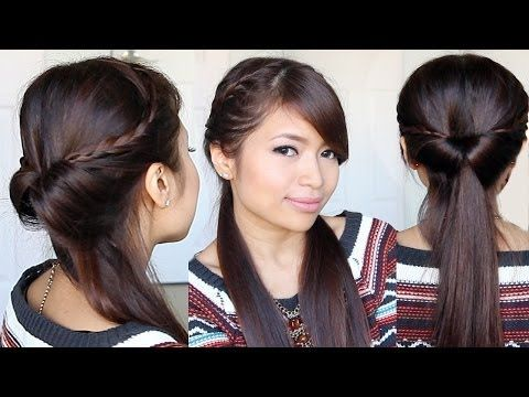 Tucked In Lace Braid Half Up Half Down Hairstyle Bebexo Hair Tutorial Youtube Hair Tutorial Braids For Long Hair Braids For Short Hair