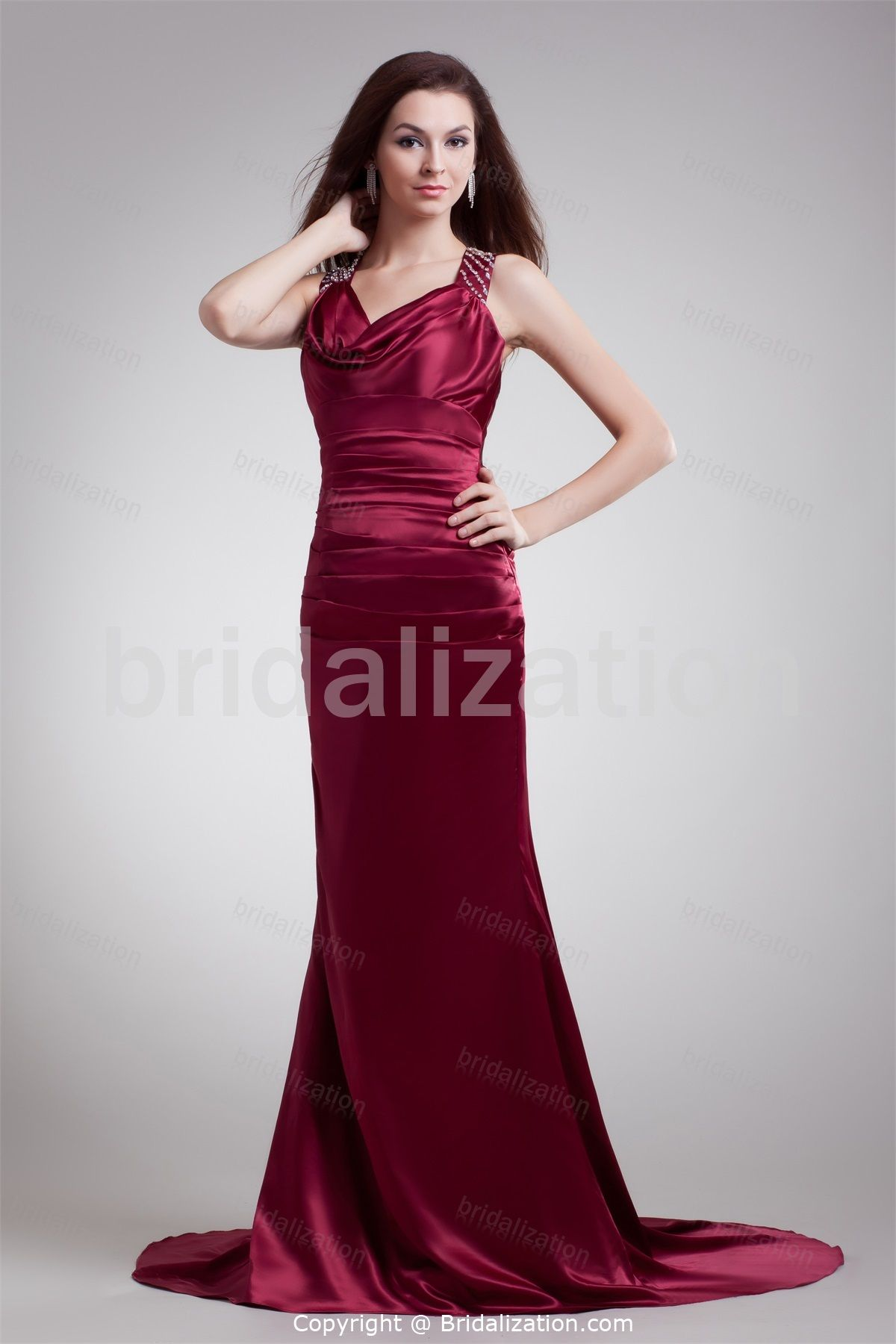 2019 year style- Satin Woven bridesmaid homecoming dresses