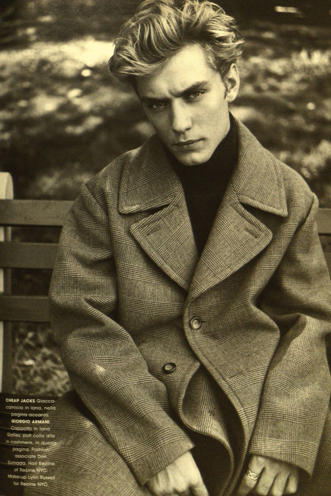 Hairstyle Editor For Men Jude Law 1995 Luomo Vogue Fashion Editor Paul Sinclaire Mens