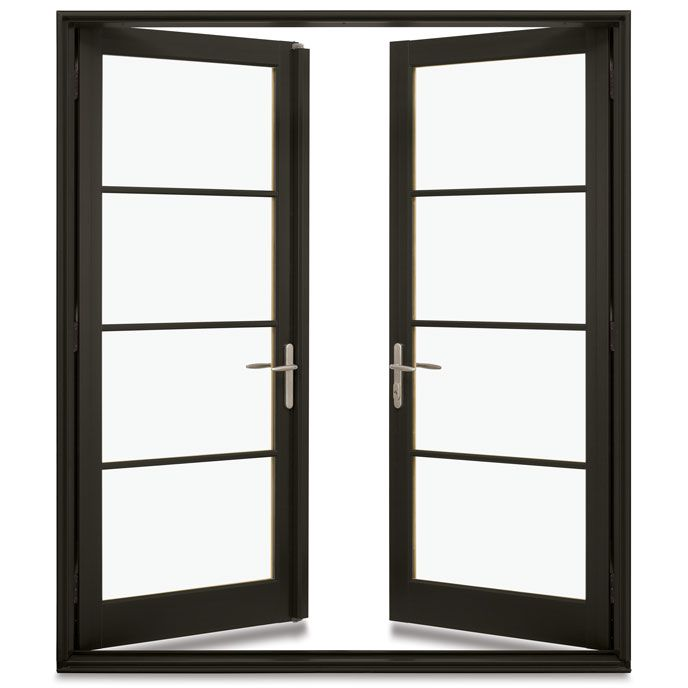 Integrity Impact Hurricane French Doors Deliver Impact Zone 3 Rated Performance And The Unmatched Strength Of An U French Doors Black French Doors Impact Doors