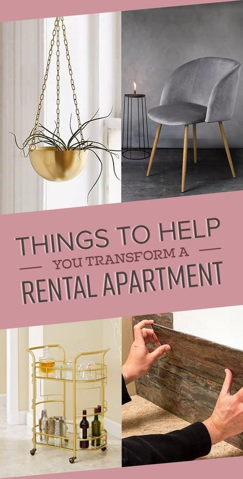 25 Things To Help You Transform A Rental Apartment is part of Things To Help You Transform A Rental Apartment - Spruce up the place and still get your security deposit back  (Updated February 16, 2018 )