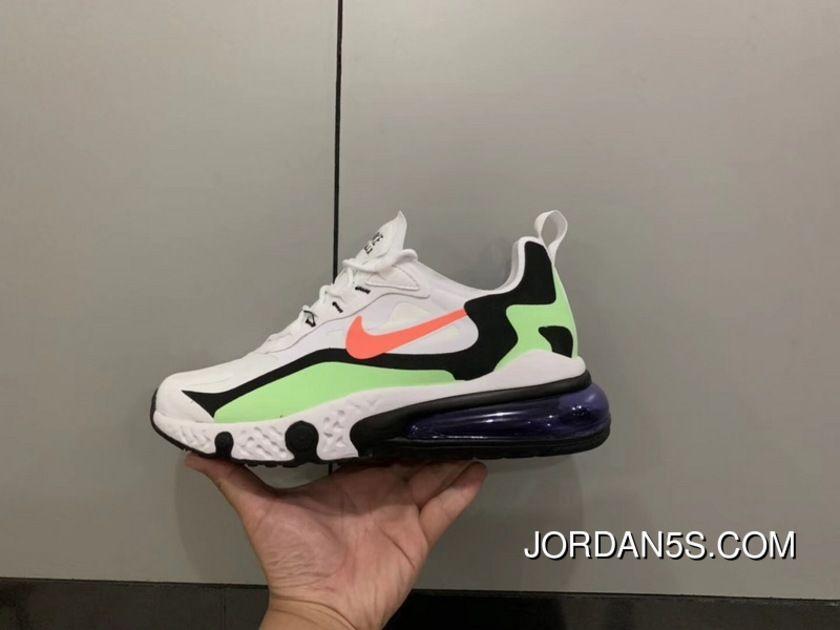 Nike Air Max 270 AQ9087 183 Retro White Green Black Salmon Pink Mens  Running Shoes Free Shipping 54afe557a
