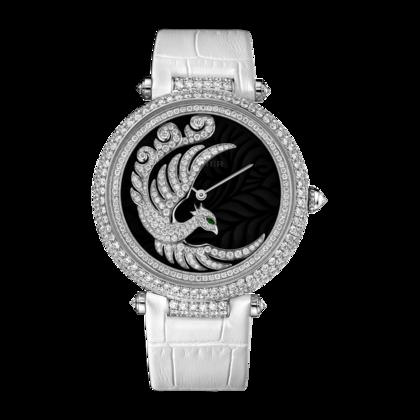 Orologio Envol d'un Phœoenix Automatico, oro bianco con diamanti, pelle