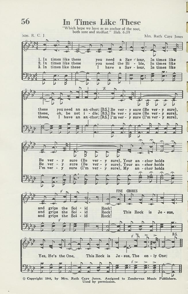 Sheet Music - In Times Like These | Truth Will Set You Free | Praise
