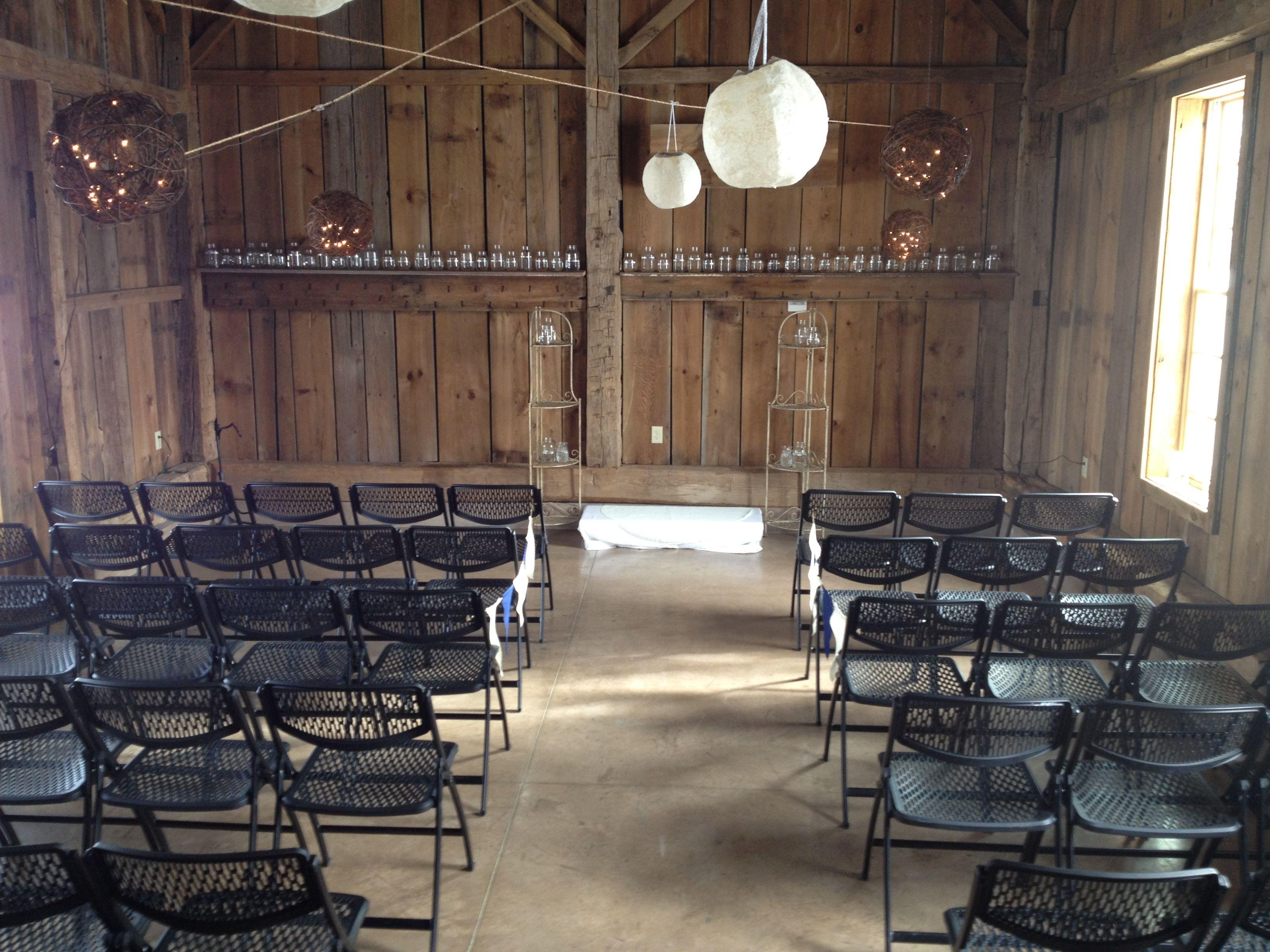 An Indoor Rustic Ceremony: Rustic Indoor Wedding Ceremony At The Amelita Mirolo Barn