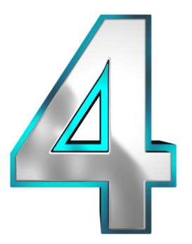 Number 4 Numerology Clip Art Clipart Images Numbers Font