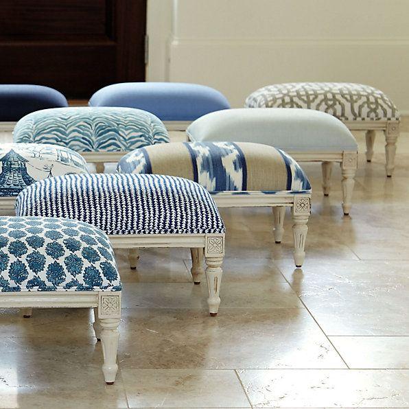 Quincy Indigo Fabric by the Yard   Ballard Designs ...