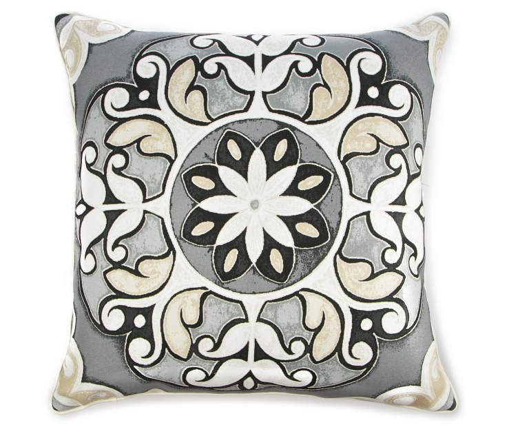 Gray Cortes Medallion Outdoor Throw Pillow 20 X At Lots
