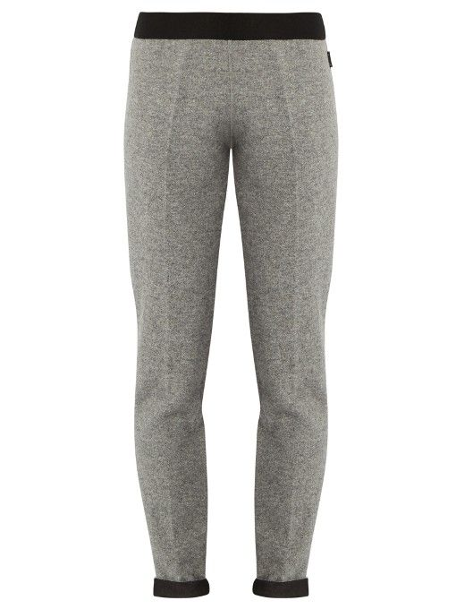 MONCLER Straight-Leg Wool-Knit Trousers. #moncler #cloth #trousers