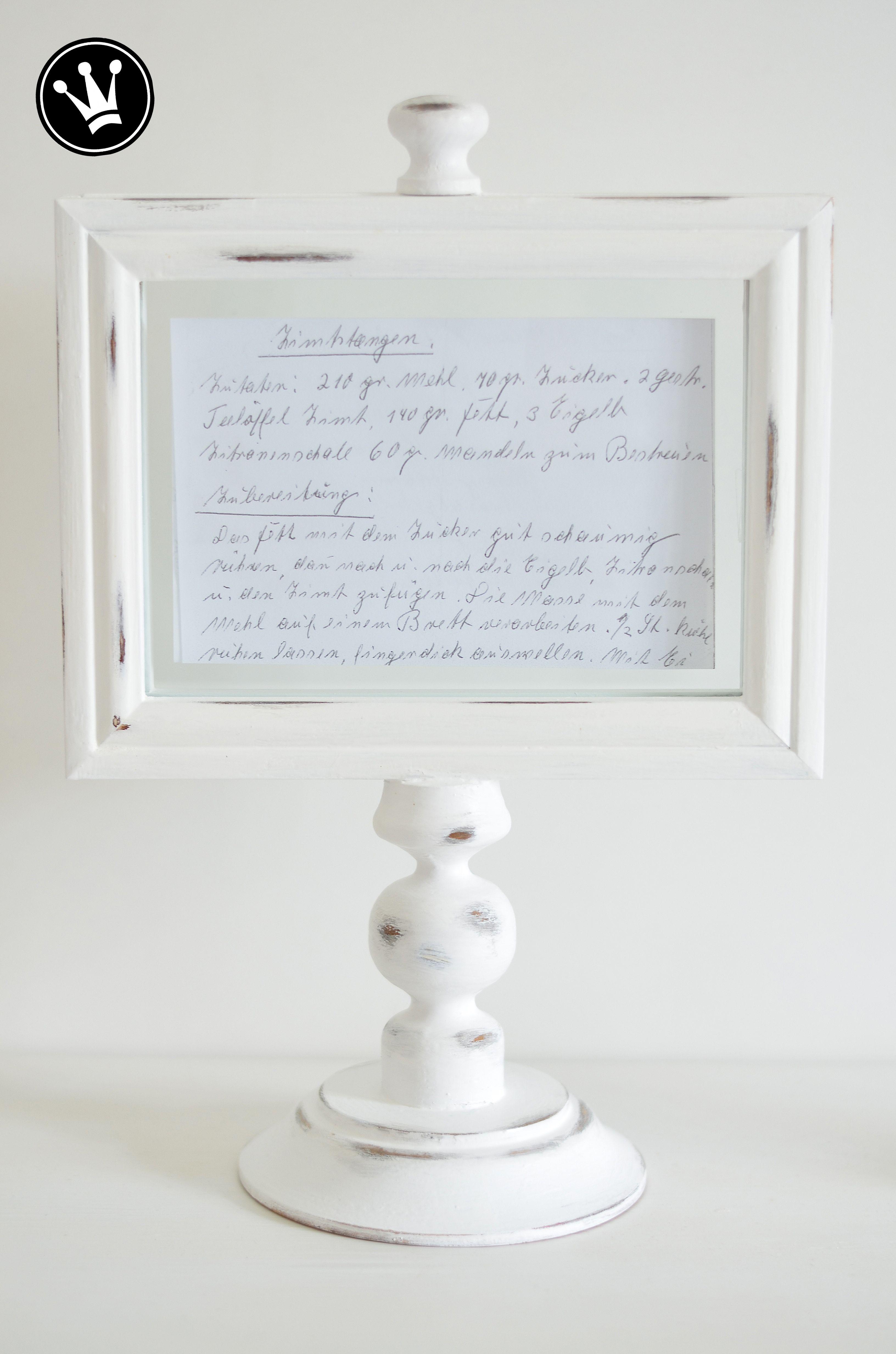 DIY- Bilderrahmenständer für Fotos, Sinnsprüche oder kleine ...