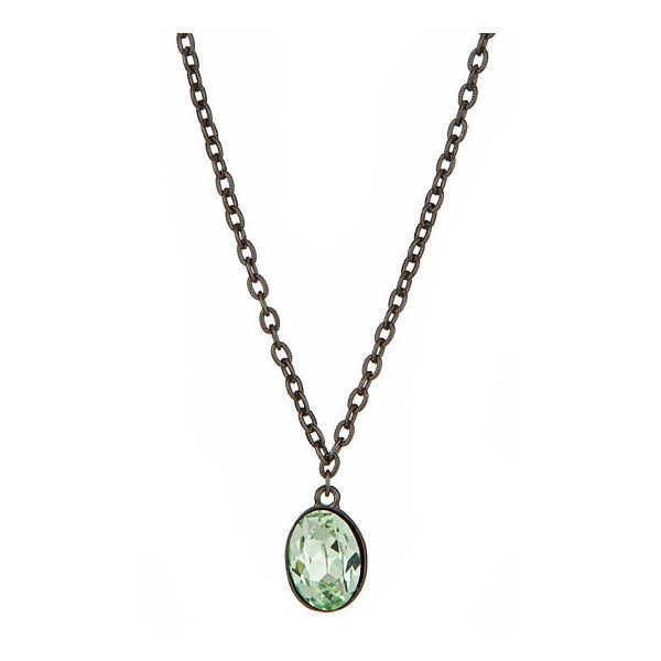 Diana Warner Crystal Pendant Necklace ($95) ❤ liked on Polyvore