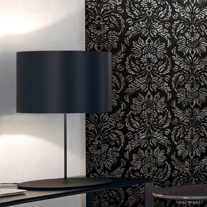 WallFace 14800 IMPERIAL Wall Panel Vintage Baroque Damask 3D Interior Wall  Decor Self Adhesive Black Grey | 2,60 Sqm