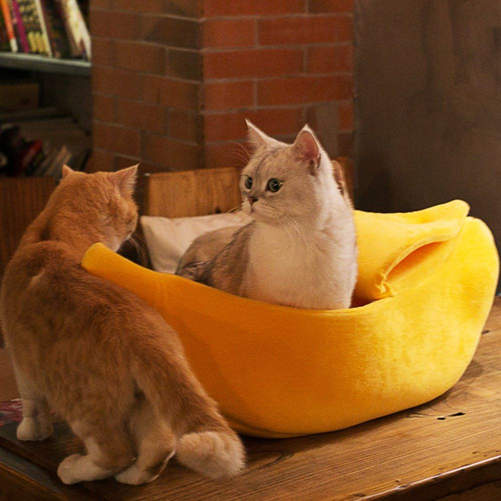 WORDERFUL Pet Dog Cat Banana Bed House Pet Boat Dog Cat