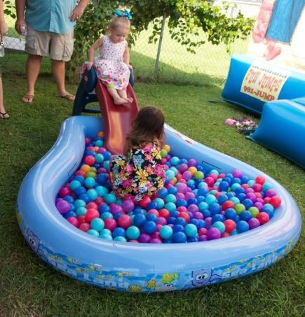 Ball pit game for 1st birthday party See more first boy birthday