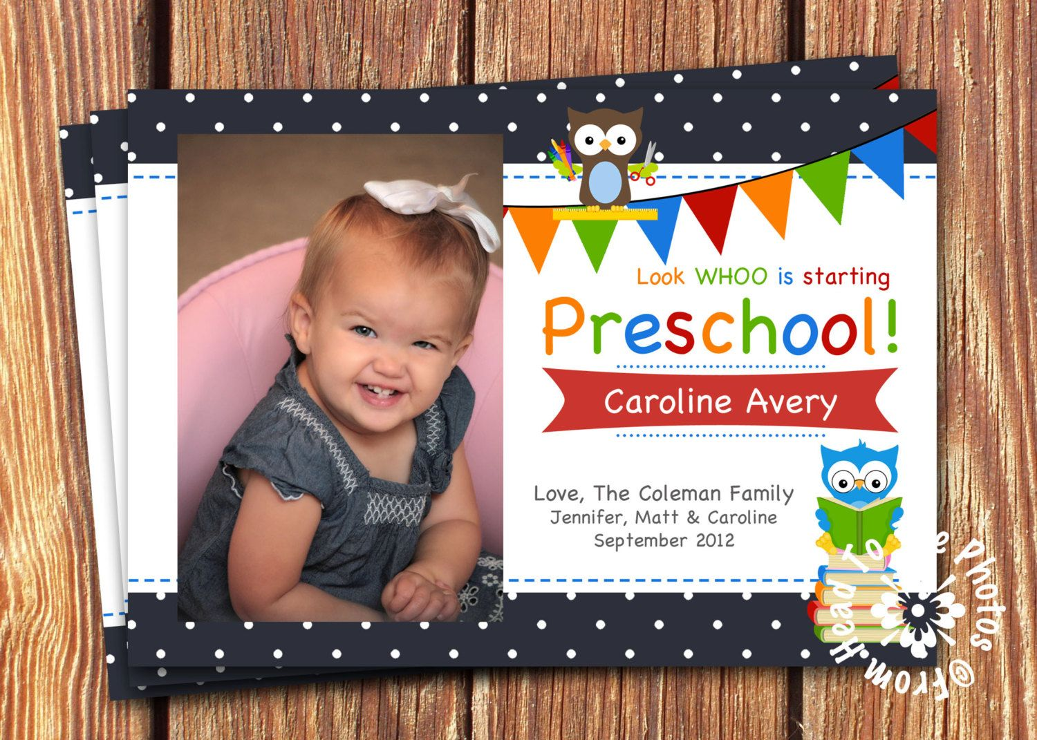 First Day of School Photo Card-You choose the Grade