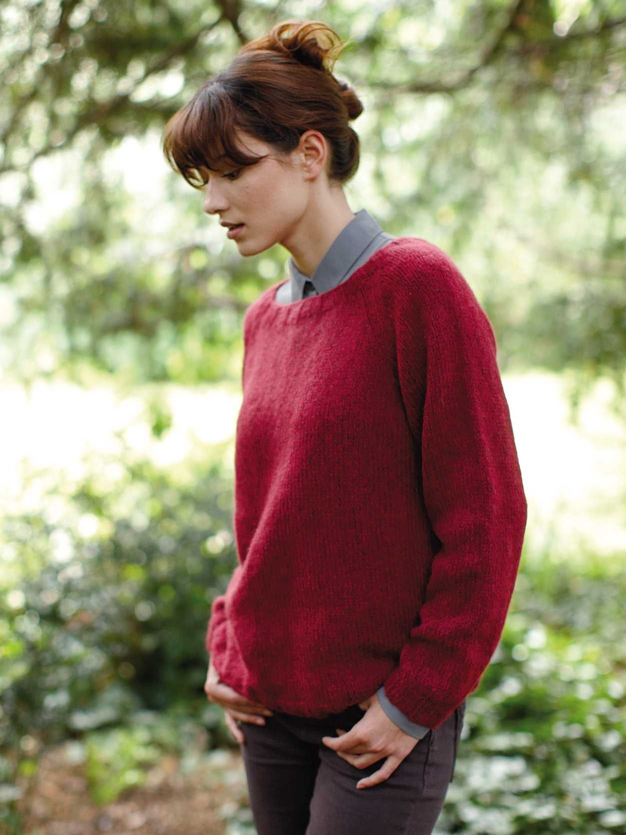 Free Knitting Pattern for an Easy Classic Sweater | Easy ...
