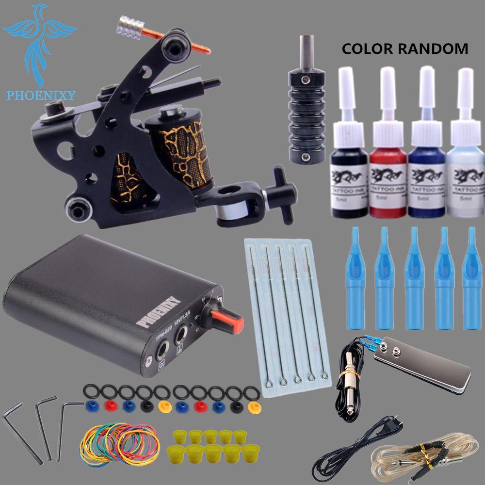 Beginner tattoo starter kits 4 colors tattoo ink sets 8