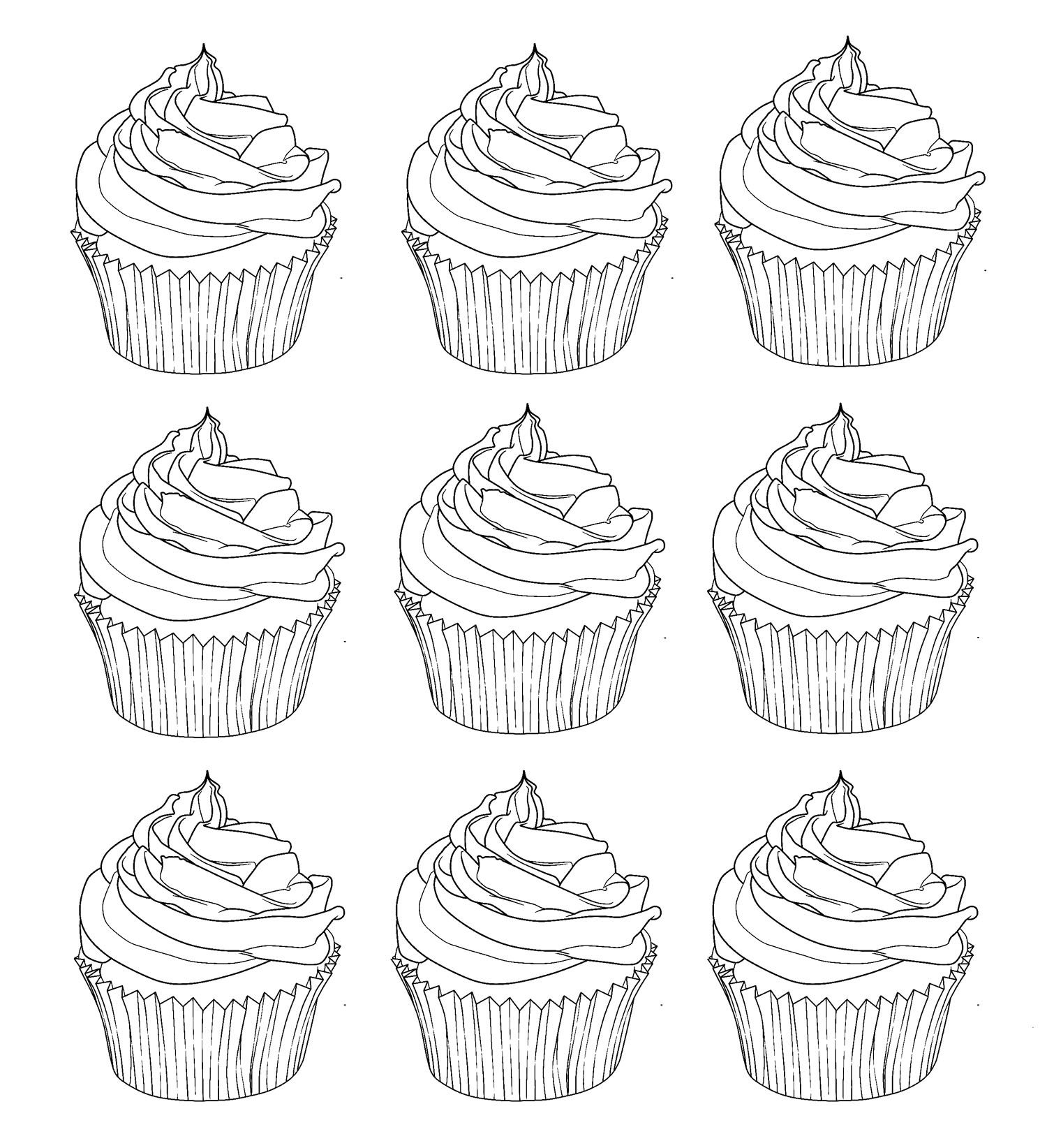 Spectacular Coloring Pages Of Cupcakes