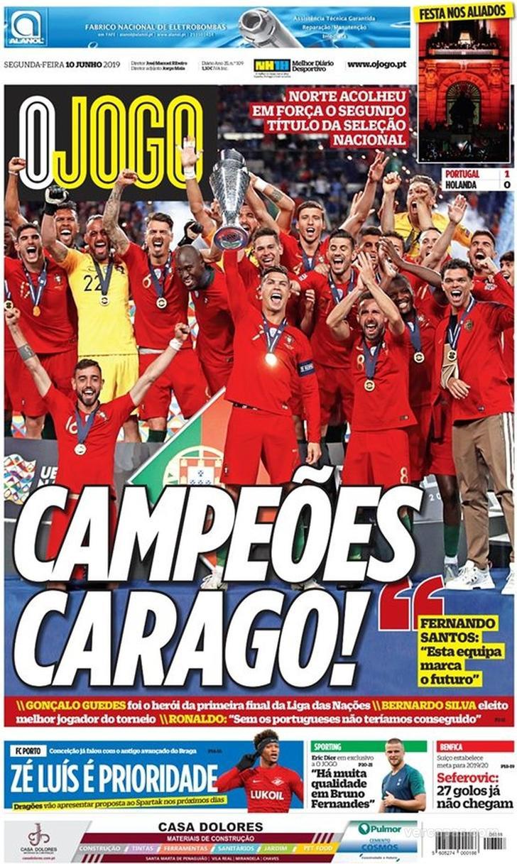 Capa O Jogo Federacao Portuguesa De Futebol Campeao Selecao De Portugal