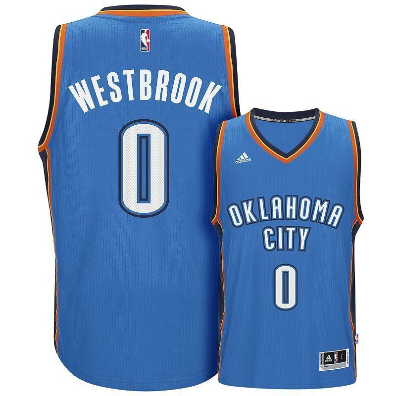 c8245e606 Men s Adidas Oklahoma City Thunder Russell Westbrook Swingman NBA Replica  Jersey
