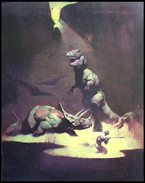 Tyrannosaurus Rex (Print) art by Frank Frazetta Archive