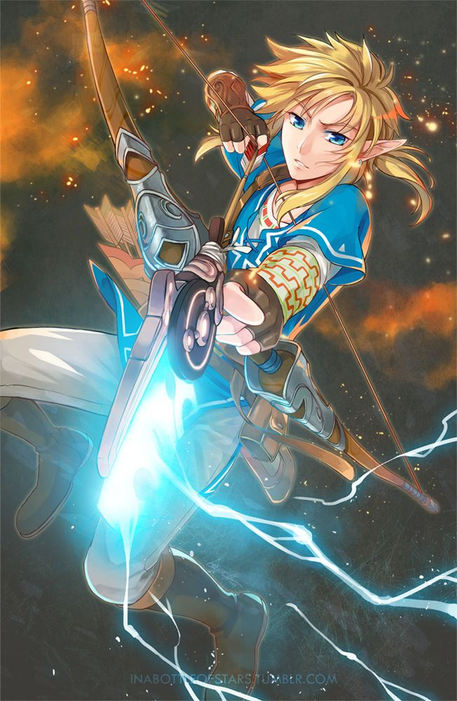 Link Breath Of The Wild Guardian Bow And Arrow Nintendo