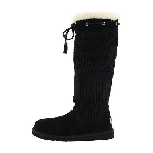 Ugg Suburb Crochet Tall Boots 5733 Black http://cheapugghub.com/ugg