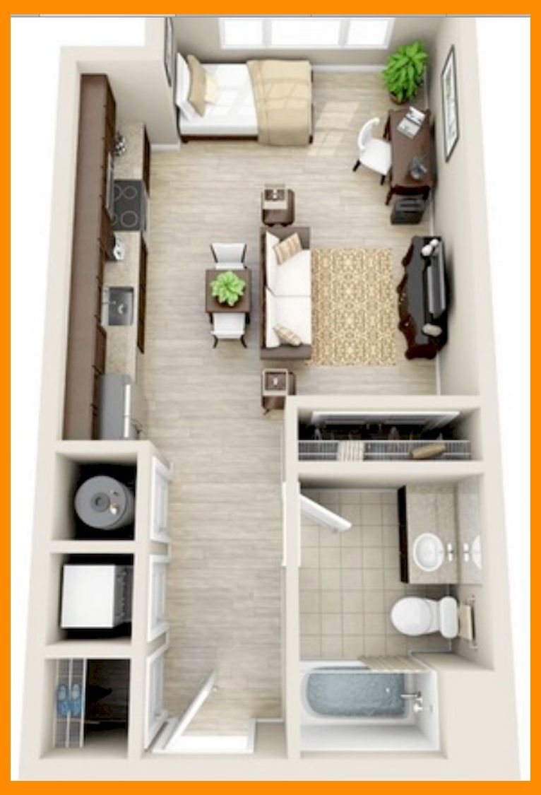 19+ Small Studio Apartment Layout Design Ideas  Small Apartment