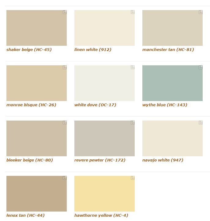 The most frequently search colors on banjamin moores for Benjamin moore creamy beige