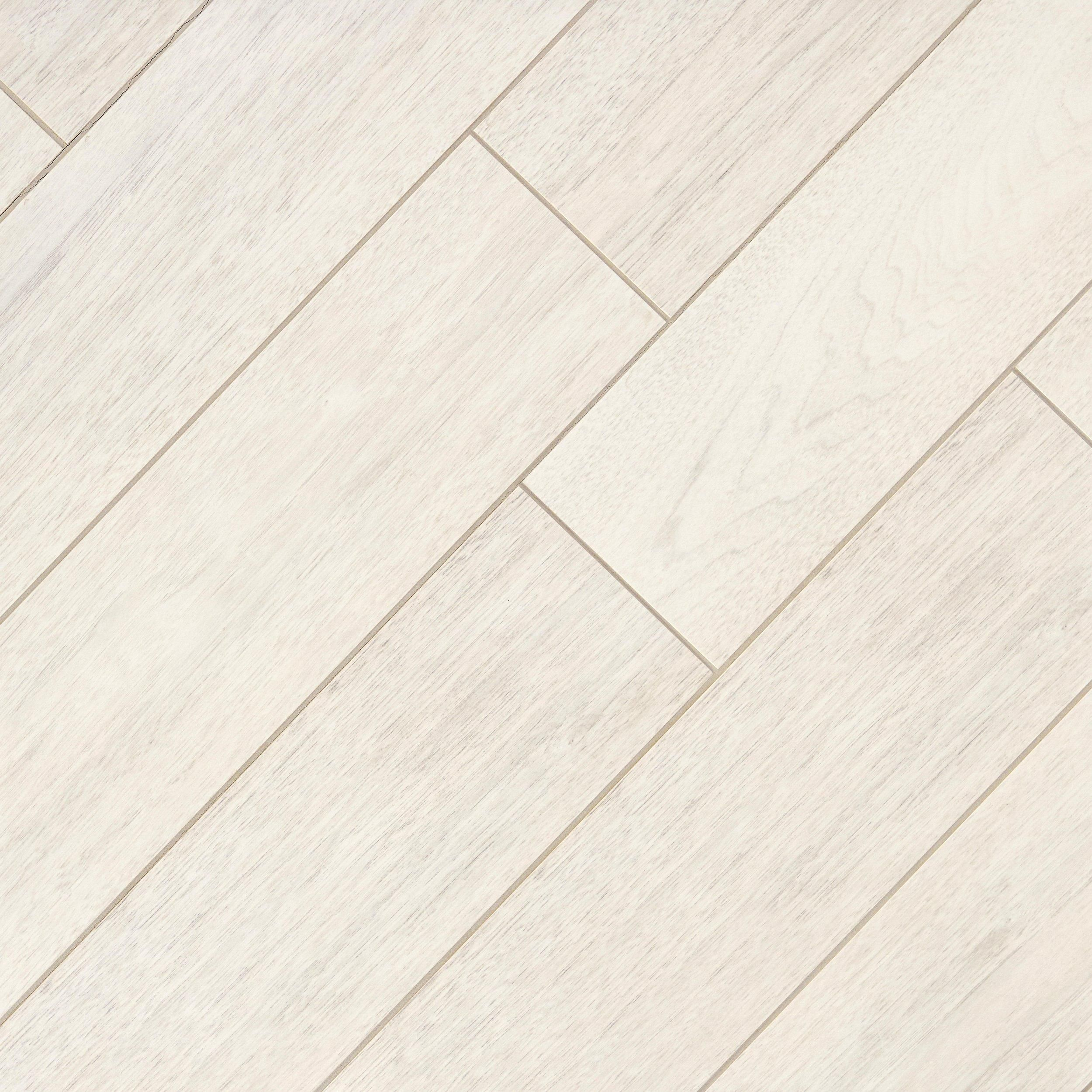 Newtron White Wood Plank Porcelain Tile Products